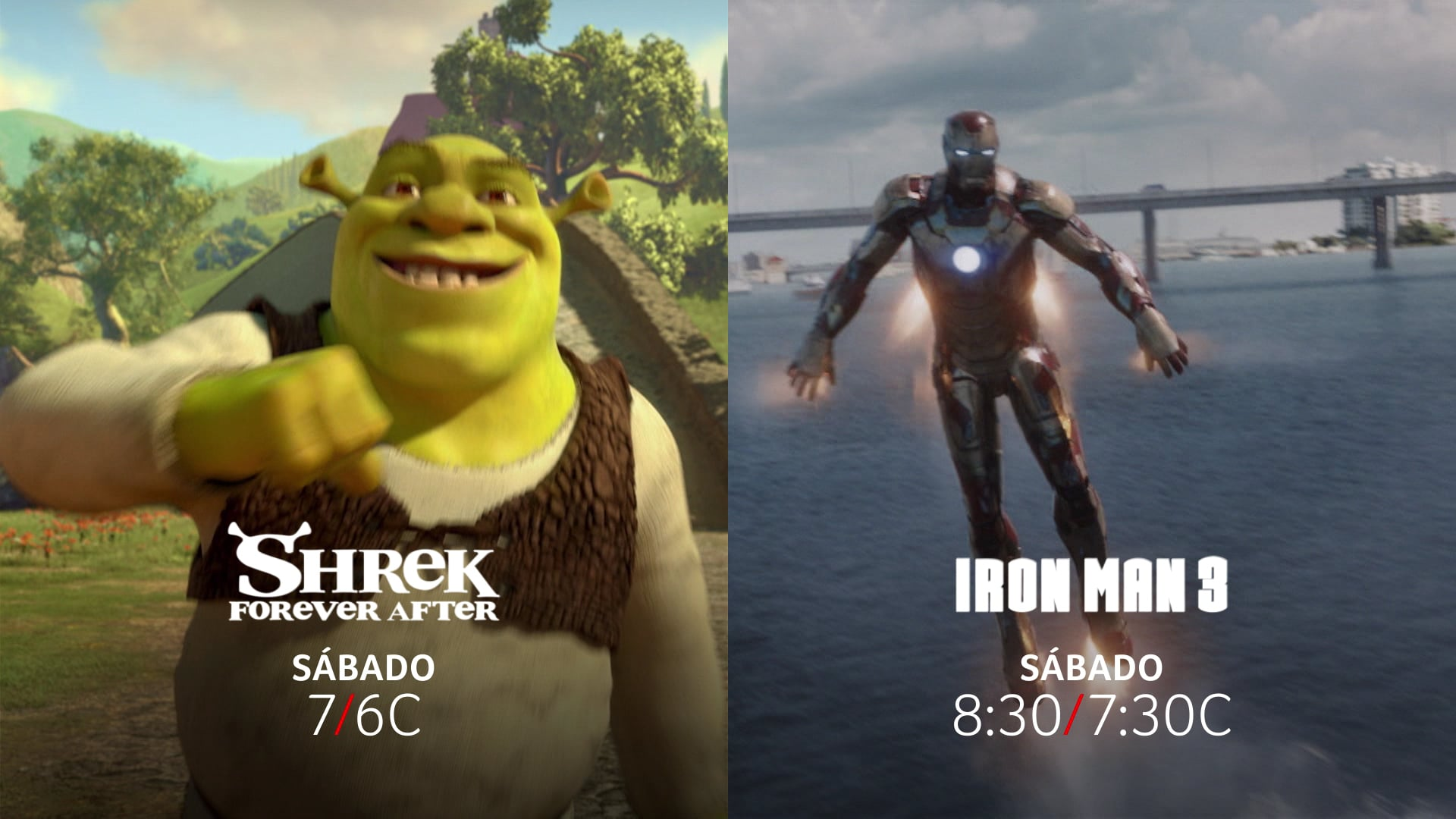 SHREK FOREVER AFTER + IRON MAN 3